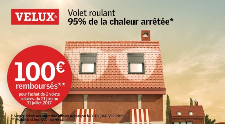 promotion volet roulant solaire velux installation velux le mans ng services. Black Bedroom Furniture Sets. Home Design Ideas