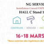 Salon de l'habitat 2018 Stand NG SERVICES Expert VELUX Hall C Stand 141 à 144